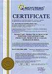 Certificat ISO 9001:2008 - CLICK AICI PENTRU DETALII