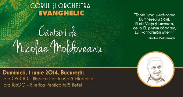 """foto CONCERTE BUCURESTI """"Cantari de Nicolae Moldoveanu"""""""