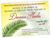 Duminica Floriilor - CLICK AICI PENTRU DETALII