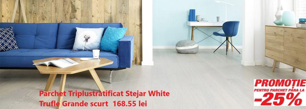 foto Parchet Tripllustratificat Stejar White Trufle Grande 1.8
