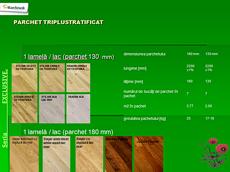 , Barlinek - Seria Exclusive <br> parchet triplustratificat - CLICK AICI PENTRU DETALII